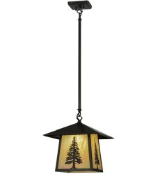 """12""""Sq Stillwater Tall Pine Pendant"""