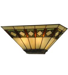 "16""W Diamond Mission Wall Sconce"