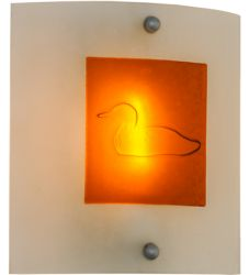 """11""""W Metro Fusion Loon Wall Sconce"""