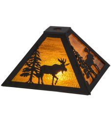 "11.5""Sq Lone Moose Shade"