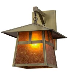 """12""""W Stillwater """"T"""" Mission Hanging Wall Sconce"""