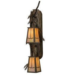 """9""""W Pine Branch Valley View 2 Lt Wall Sconce"""