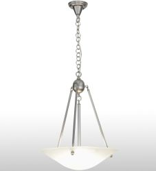 "20""W Revival Frosted Deco Ball Inverted Pendant"
