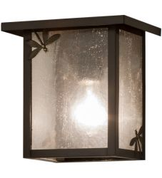 """8""""W Hyde Park Dragonfly Wall Sconce"""