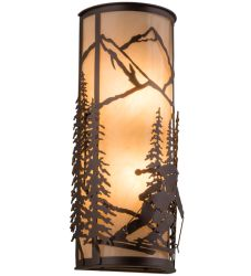 "8""W Alpine Right Wall Sconce"