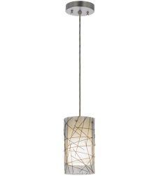 """5""""W Branches Fused Glass Mini Pendant"""