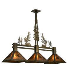 """45""""W Tall Pines 3Lt Island Pendant"""