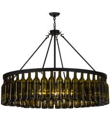 "48""W Tuscan Vineyard Estate 44 Wine Bottle Chandelier"