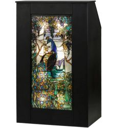 "52""H Tiffany Peacock Wisteria Lighted Podium"