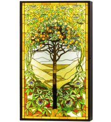 "30""W Tiffany Tree Of Life Led Backlit Window Box"