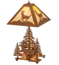 """22""""H Lone Deer Table Lamp"""