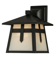 """9""""W Stillwater Cross Mission Solid Mount Wall Sconce"""
