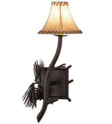 "10""W Lone Pine Left Wall Sconce"