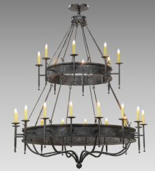 "72""W Gina 24 Lt Two Tier Chandelier"