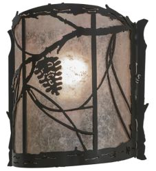 """9""""W Whispering Pines Wall Sconce"""