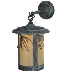 """10""""W Fulton Lone Pine Hanging Wall Sconce"""