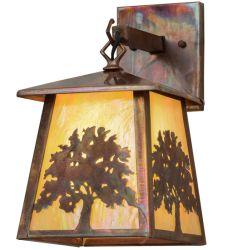 """7.5""""W Oak Tree Hanging Wall Sconce"""