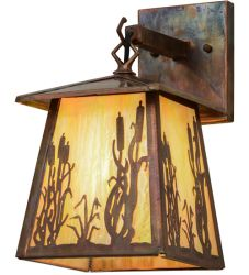 "7""W Reeds & Cattails Hanging Wall Sconce"