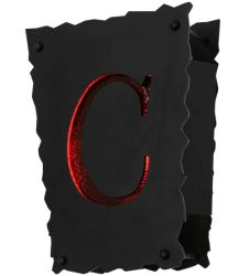 """12""""W Personalized """"C"""" Wall Sconce"""