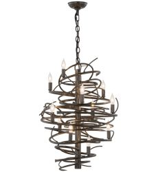 "20""W Cyclone 13 Lt Chandelier"