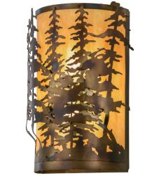 """14""""W Tall Pines Wall Sconce"""
