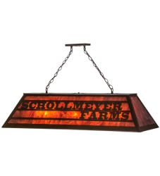 "48""L Personalized Schollmeyer Farms Oblong Pendant"