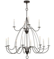 "48""W Polonaise 12 Lt Two Tier Chandelier"