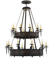 "48""W Costello 20 Lt W/Uplights Two Tier Chandelier"