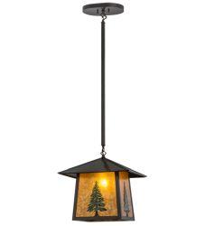 """16""""Sq Stillwater Tall Pine Pendant"""