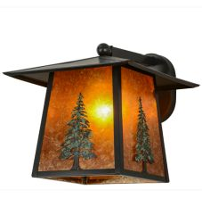 """12""""W Stillwater Tall Pine Solid Mount Wall Sconce"""
