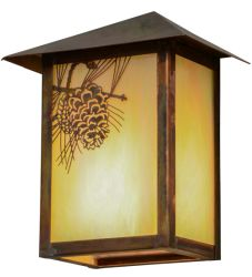 "6.5""W Seneca Winter Pine Wall Sconce"
