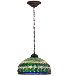 "26""W Turtleback Double Belted Pendant"