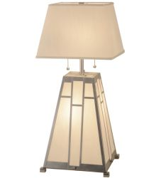 """31""""H Double Bar Mission Table Lamp"""