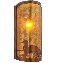 """9""""W Loon Left Led Wall Sconce"""