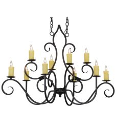 "48""L Clifton 10 Lt Chandelier"