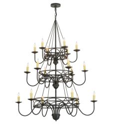 "48""W Polonella 18 Lt Three Tier Chandelier"