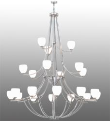 "84""W Everett 21 Lt Three Tier Chandelier"