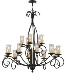"48""W Sienna 15 Lt Two Tier Chandelier"