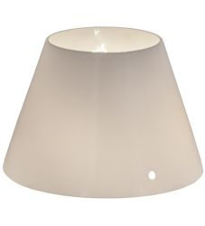 "6""W X 4""H White Glass Tapered Shade"