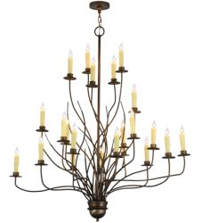 """54""""W Sycamore 22 Lt Chandelier"""