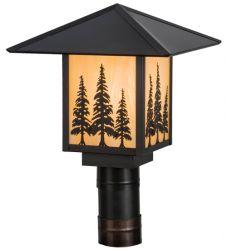 "12""Sq Seneca Tall Pines Post Mount"