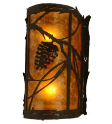 "8""W Whispering Pines Left Wall Sconce"
