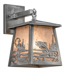 "7""W Fly Fishing Creek Hanging Wall Sconce"