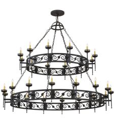 "84""W Majella 28 Lt Two Tier Chandelier"