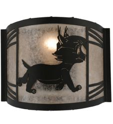 """12""""W Lynx On The Loose Right Wall Sconce"""