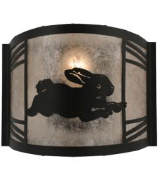 """12""""W Rabbit On The Loose Right Wall Sconce"""