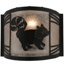 """12""""W Raccoon On The Loose Right Wall Sconce"""