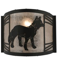 """12""""W Fox On The Loose Right Wall Sconce"""