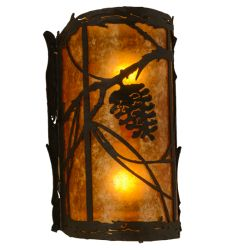 "8""W Whispering Pines Right Wall Sconce"