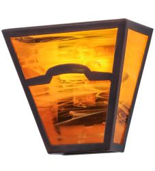 """9""""W Mountain View Wall Sconce"""